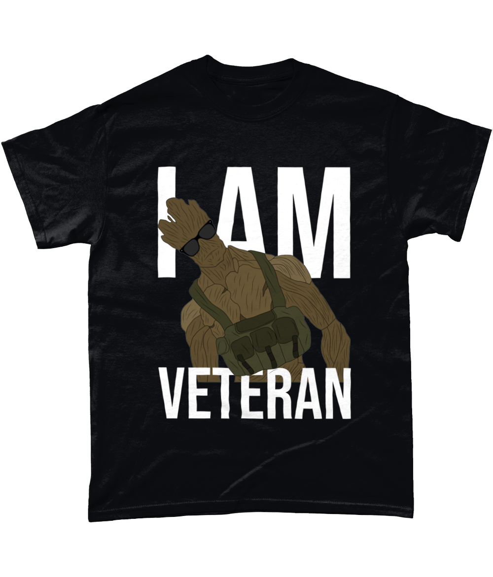 Black / Small I Am Veteran T Shirt