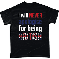 Black / Small I Will Never Apologise T Shirt