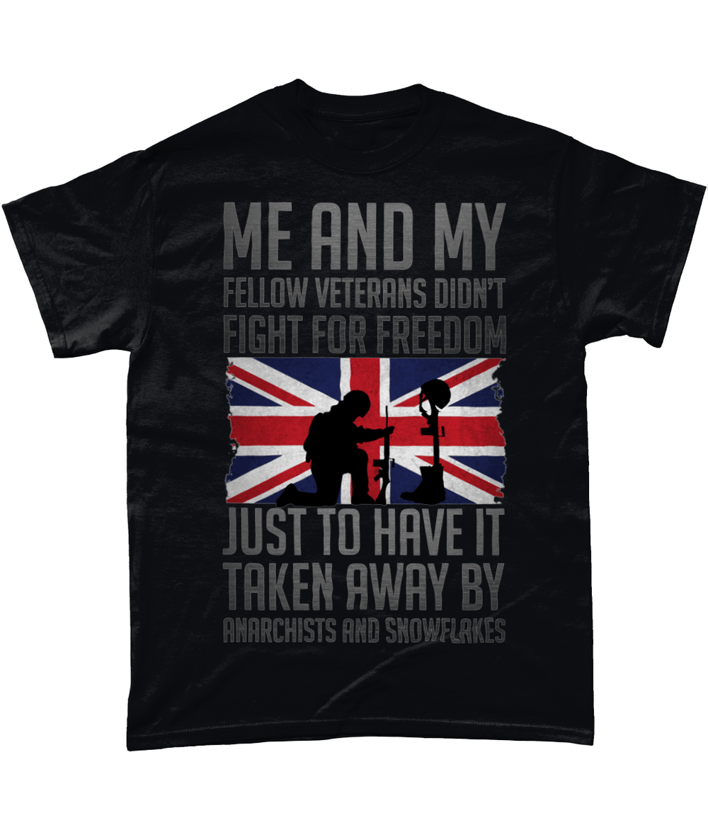 Black / Small Me And Fellow Vets T Shirt