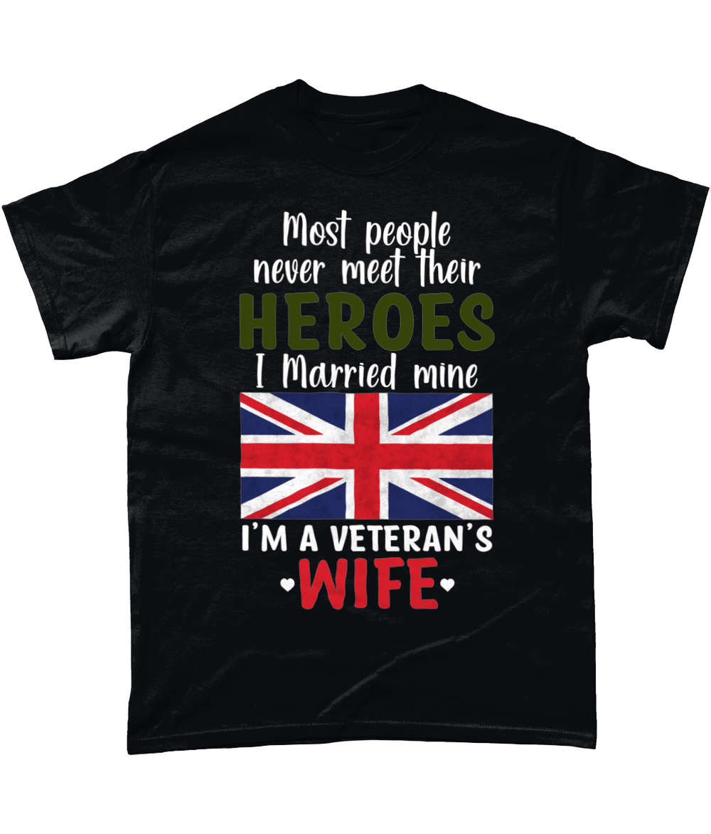 Black / Small Most People Never Meet Their Hero T Shirt