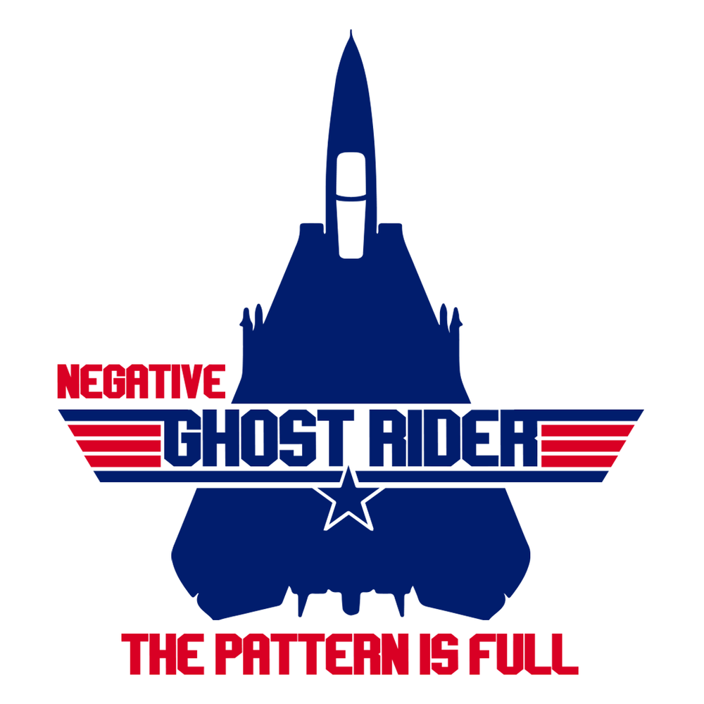Negative Ghost Rider T Shirt