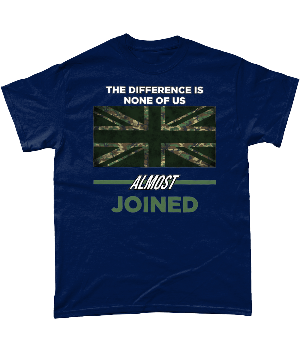 Navy / Small None Of Us Almost Joined T Shirt