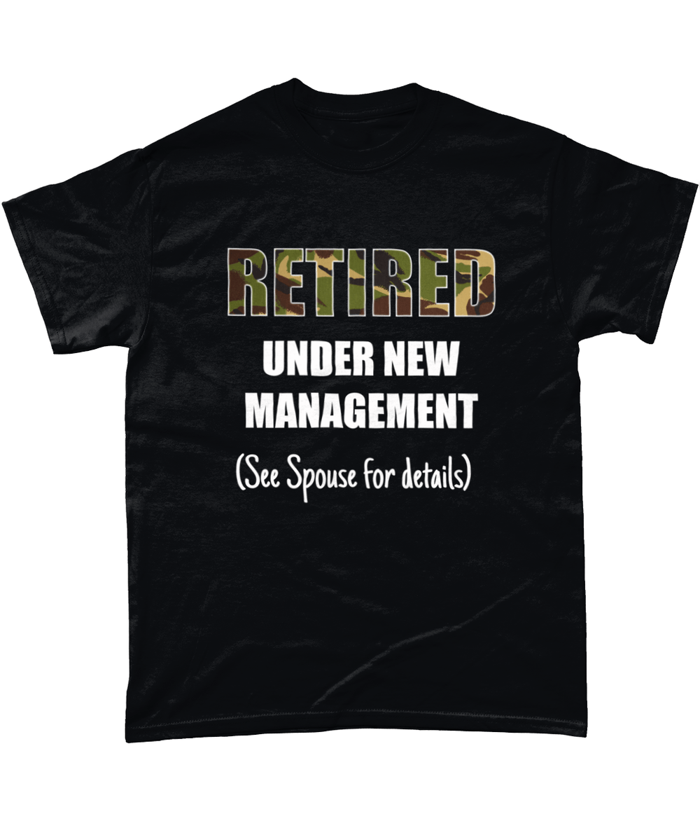 Black / Small Retired Under New Management T Shirt