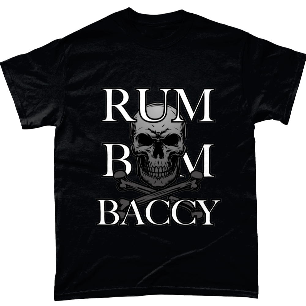 Black / Small Rum Bum And Baccy T Shirt