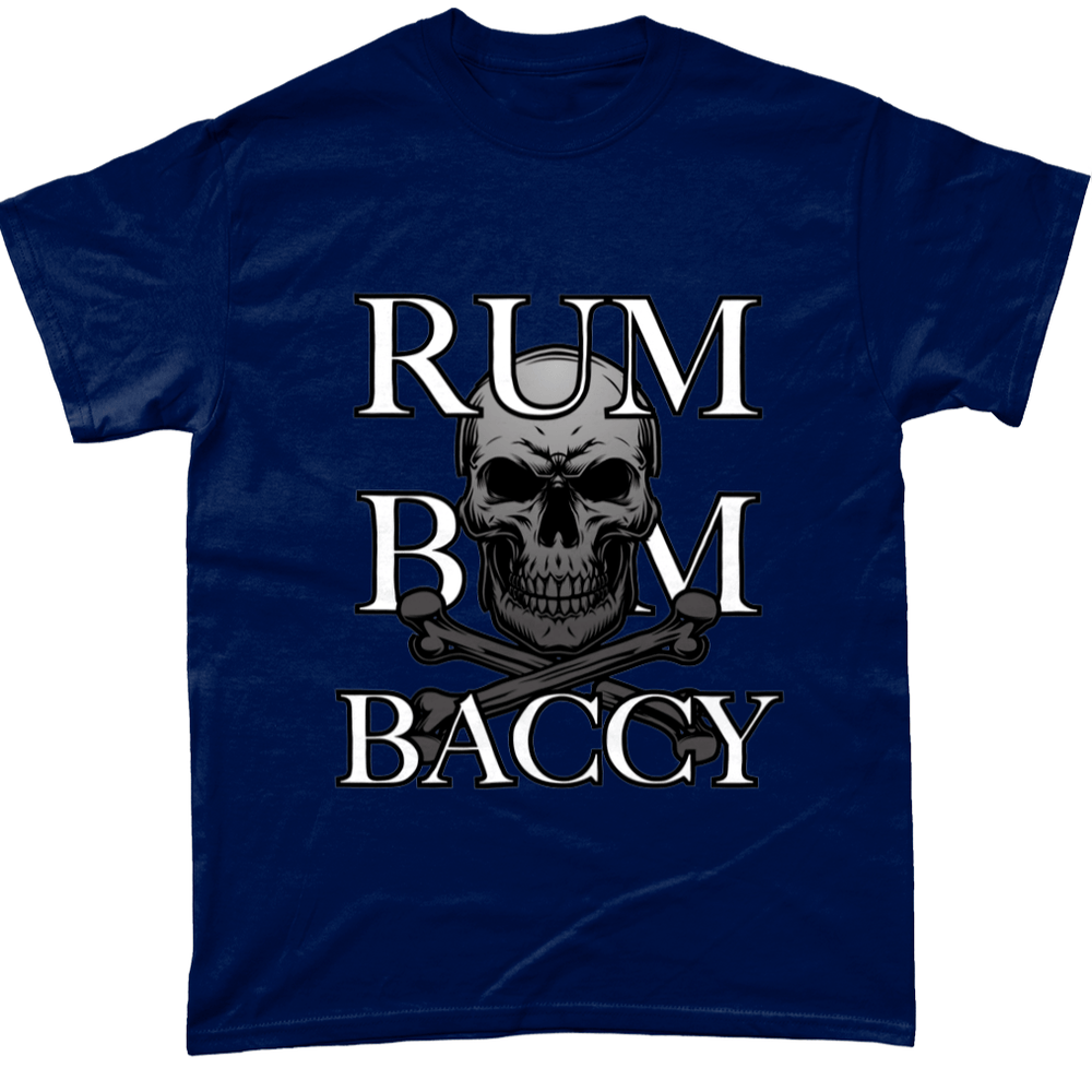 Navy / Small Rum Bum And Baccy T Shirt