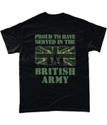 Black / Small Served in the Army T Shirt
