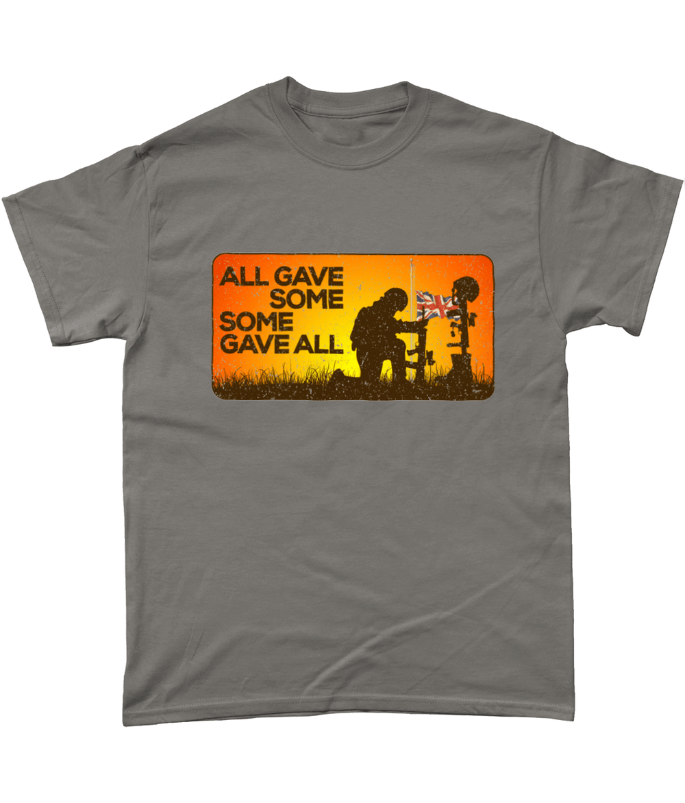 Charcoal / Small Some Gave All T Shirt