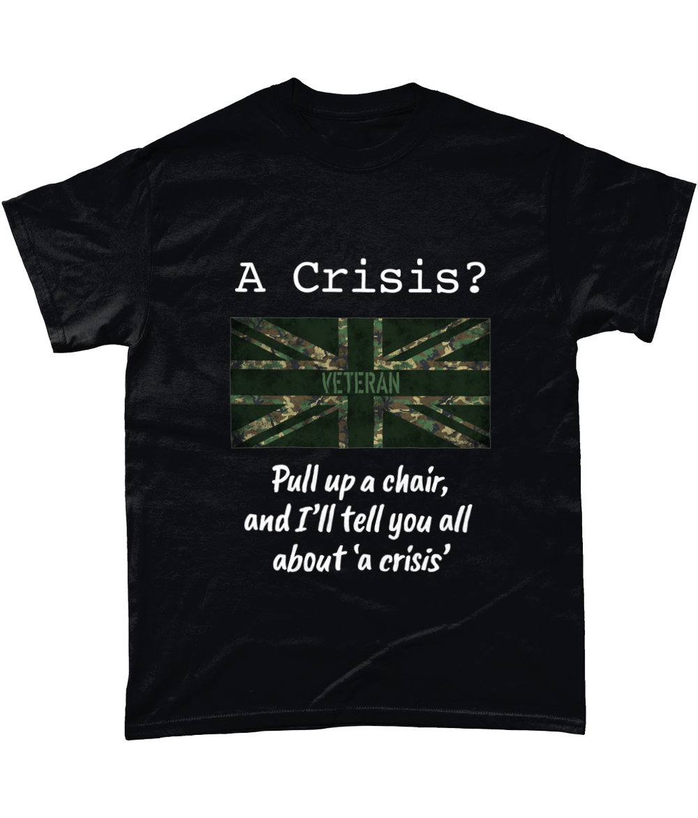 Black / Small Tell Me About A Crisis Vets T Shirt