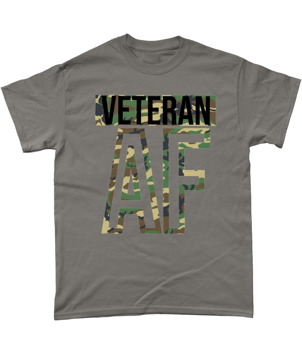 Charcoal / Small Veteran AF T Shirt