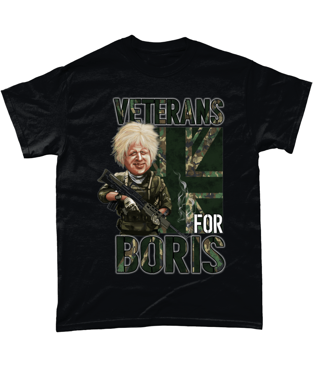 Black / Small Veterans For Boris T Shirt