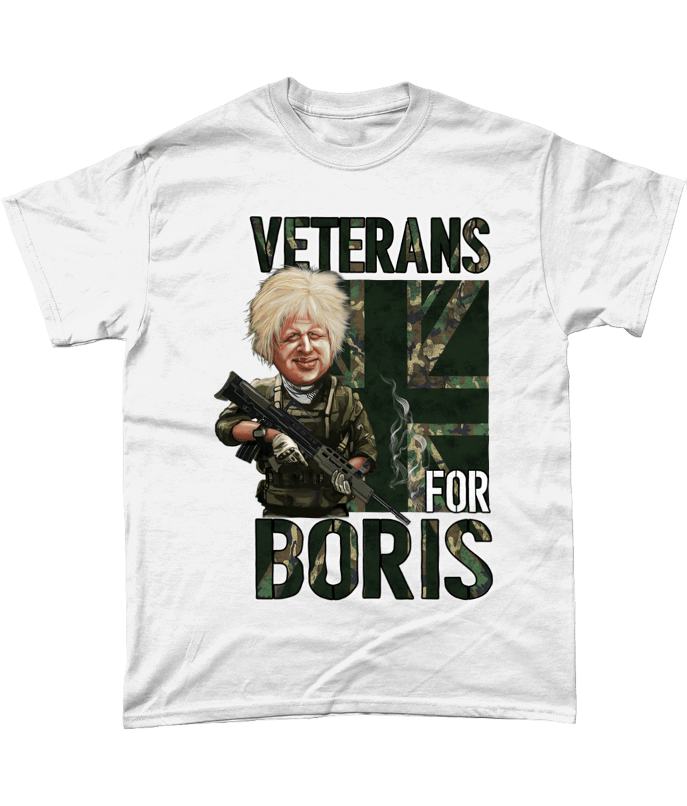White / Small Veterans For Boris T Shirt