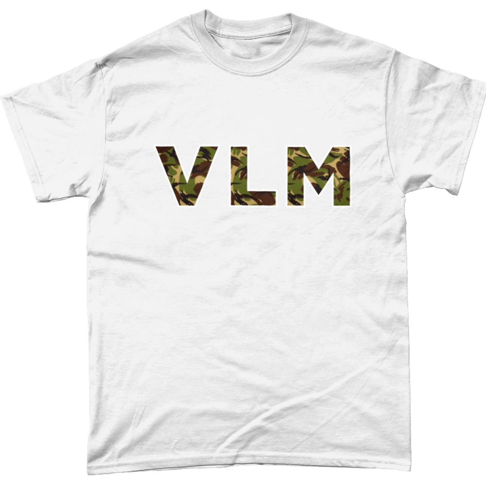 White / Small VLM Veteran T Shirt