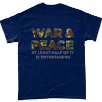 Navy / Small War And Peace T Shirt