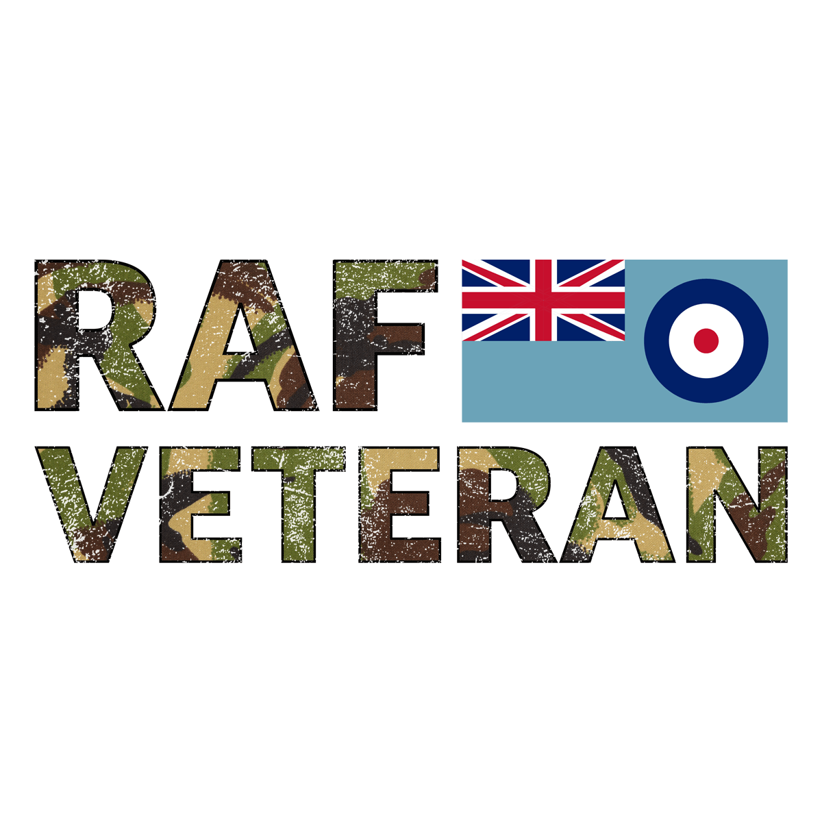 Ceramic / White RAF Veteran Mug (DPM)