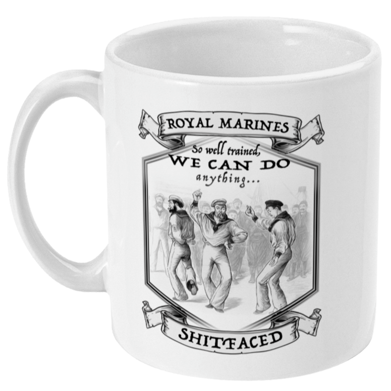 Ceramic / White Royal Marine Dancing Team Mug