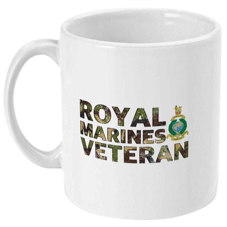 Ceramic / White Royal Marines Veteran Mug (DPM)