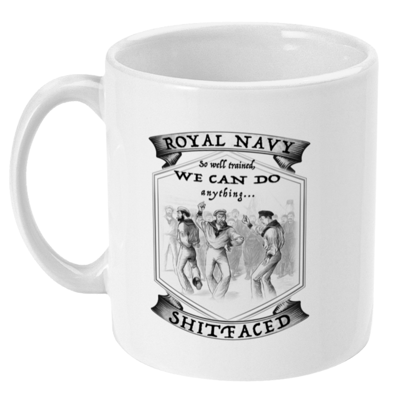 Ceramic / White Royal Navy Dancing Team Mug