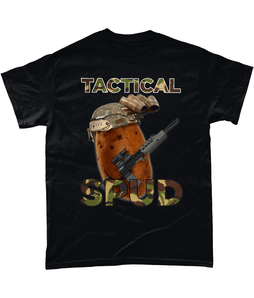 Black / Small Tactical Spud Unisex T Shirt