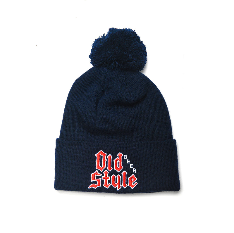 OLD STYLE BEER POM BEANIE - NAVY