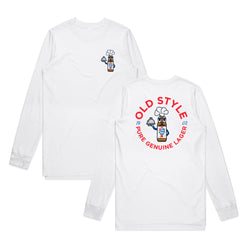 CHEF MAN COSTUME L/S TEE - WHITE