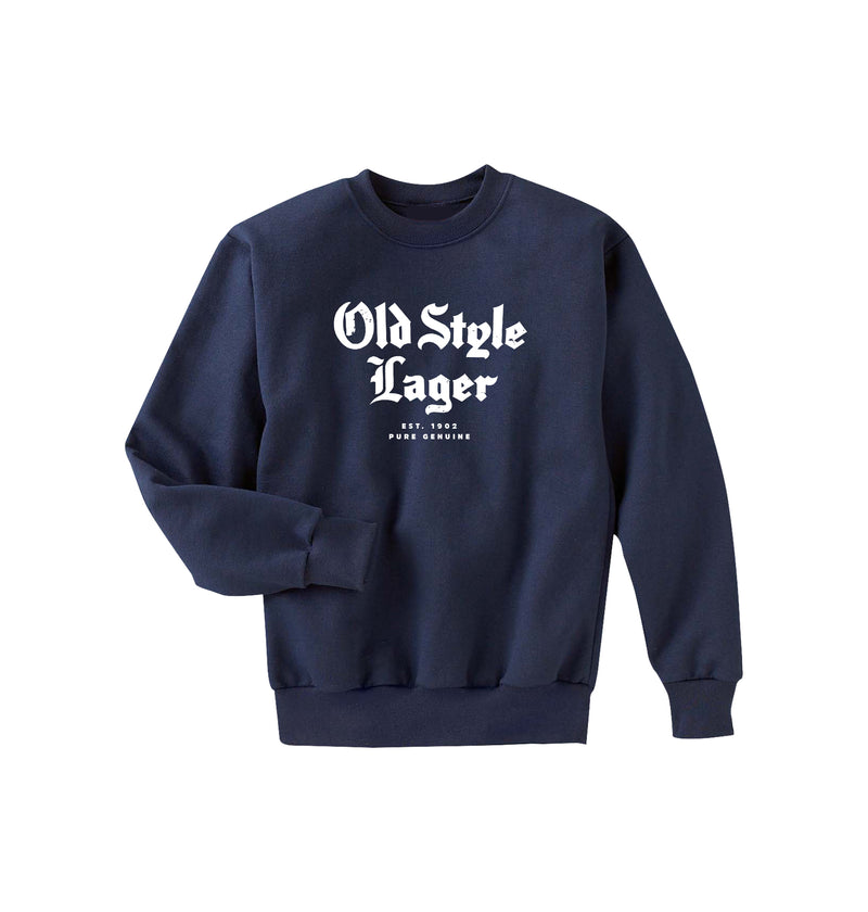 SCRIPTED CREWNECK - NAVY