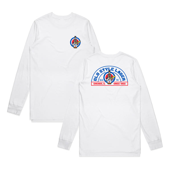 BASEBALL MAN L/S TEE - WHITE