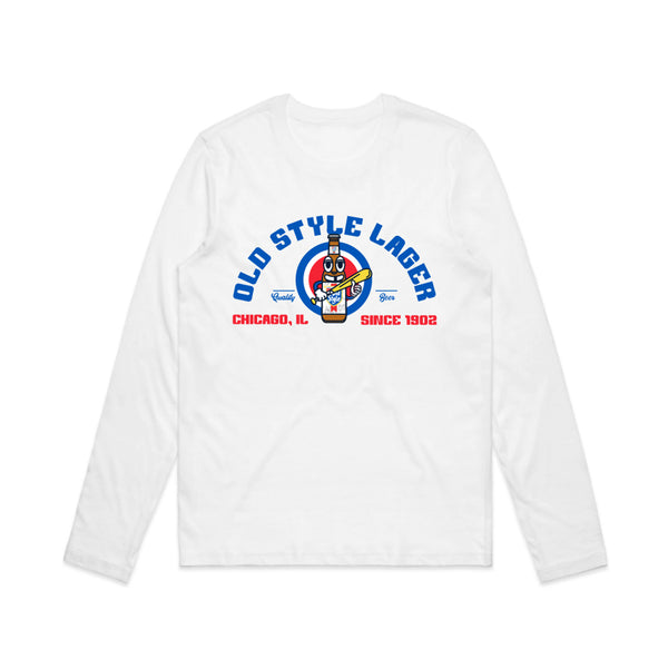 BASEBALL MAN WOMEN'S L/S TEE - WHITE