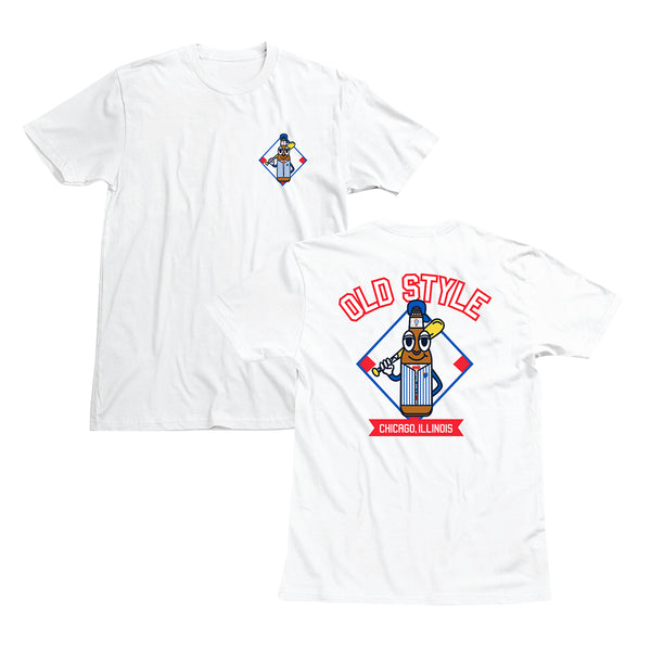 BATTER UP TEE - WHITE