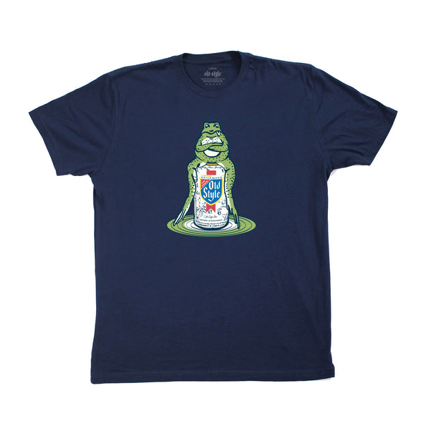 OLD STYLE FROG TEE - NAVY