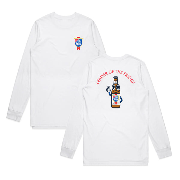 LEADER OF THE FRIDGE L/S TEE - WHITE