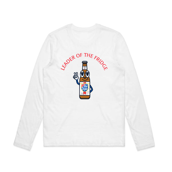 LEADER OF THE FRIDGE WOMEN'S L/S TEE - WHITE