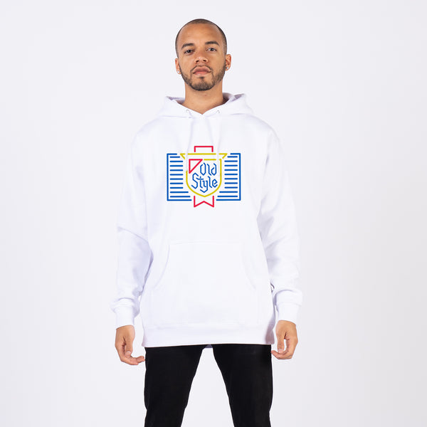 NEON SIGN HOODIE - White