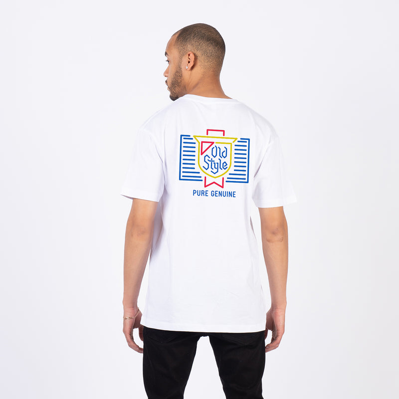 OLD STYLE NEON TEE - WHITE