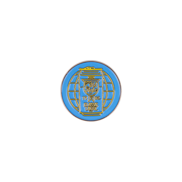 WORLD OF OLD STYLE ENAMEL PIN