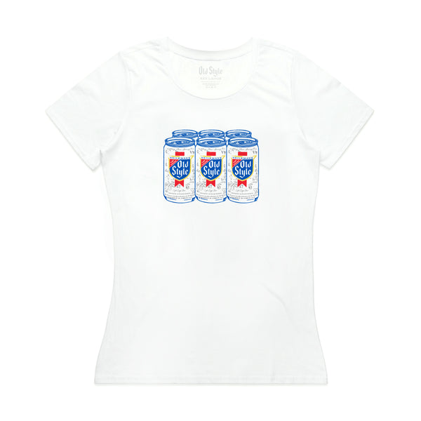 6 PACK WOMEN'S TEE- WHITE