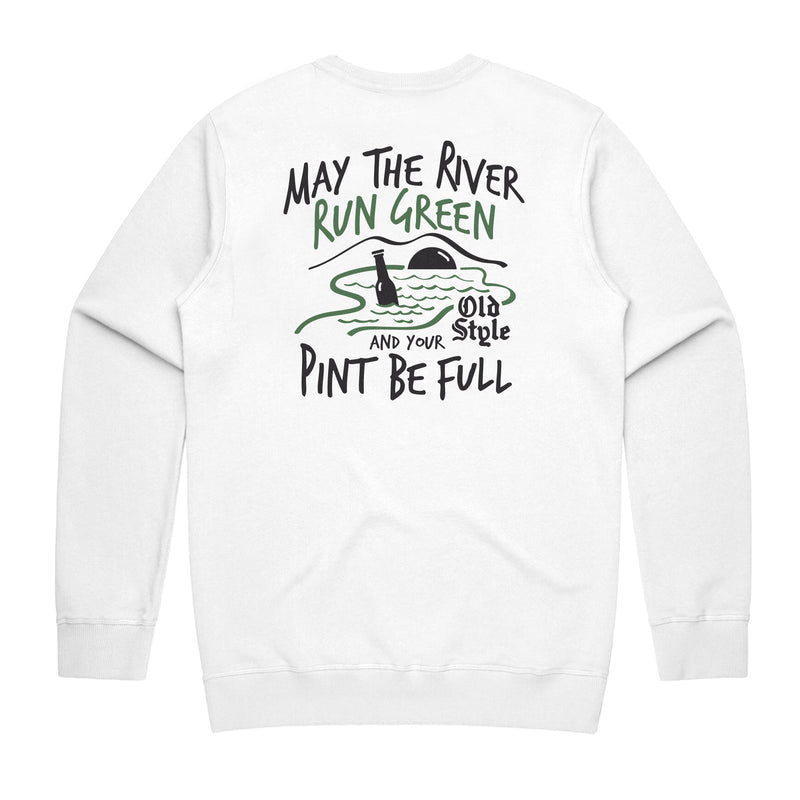 PINT BE FULL CREWNECK - WHITE