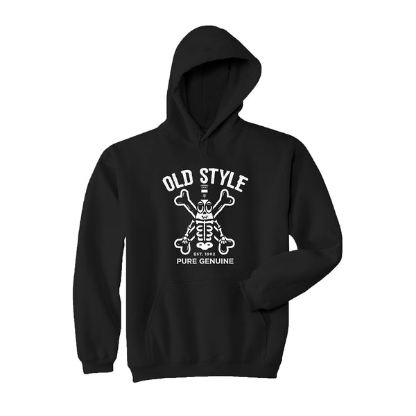 SKELETON MAN COSTUME HOODIE - BLACK