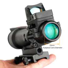 Load image into Gallery viewer, ohhunt® ACOG Style 3.5X35 Scope Real Optic Fiber Scope With Red Dot Red or Green Illuminated Tactical Rifle Scope