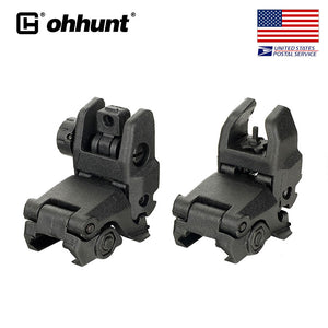 Ohhunt Polymer AR 15 Tactical Flip up Front Rear Sight Set