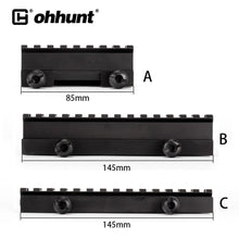 "Load image into Gallery viewer, ohhunt Tactical 1"" Hight 14-slot See Through Full Size AR Riser Mount 20mm Weaver Picatinny Rails Fit AR15 Rifles"