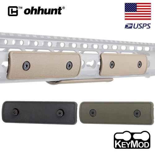 ohhunt 4 inch Polymer Keymod Rail Panel Handguard Cover Pack of 3 pieces Key Mod Tactical Hunting Accessory Black Tan Army Green