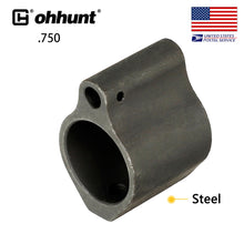 Load image into Gallery viewer, ohhunt .750 Inch Steel/Aluminum Gas Block Low Profile Set Screw Standard Barrel Inside Diameter Tactical Hunting Gun Accessories