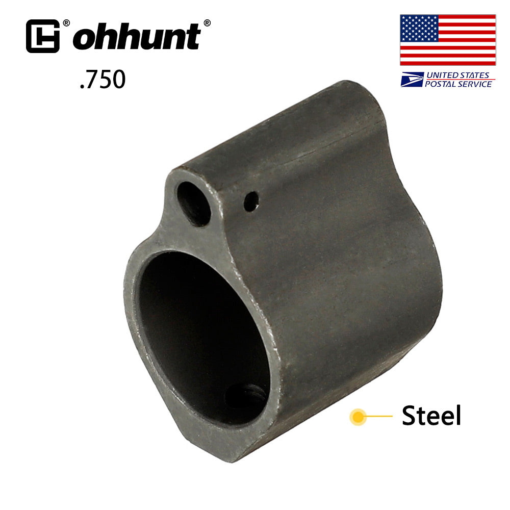 ohhunt .750 Inch Steel/Aluminum Gas Block Low Profile Set Screw Standard Barrel Inside Diameter Tactical Hunting Gun Accessories