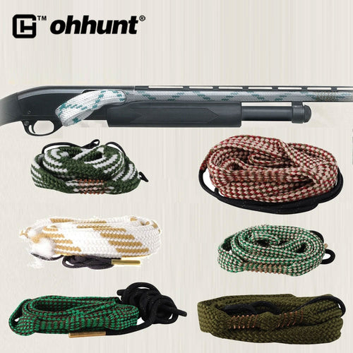 ohhunt Hunting Bore Snake .177 .22 .30 .338 .357 .410 .416 .44/.45 6MM 7MM 8MM 9MM 12GA 16GA 20GA Cleaning Rifle Bore Cleaner