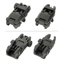 Load image into Gallery viewer,  AR-15 Flip up Front Rear Sight Set Windage Adjustment For Picatinny Rail