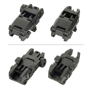 AR-15 Flip up Front Rear Sight Set Windage Adjustment For Picatinny Rail