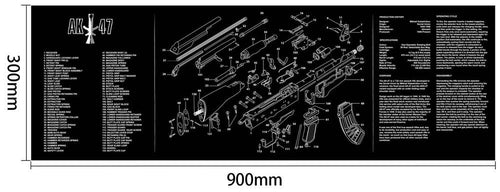 Ohhunt Armorers Bench Mat Gun Cleaning Mat AK47 Parts Diagram & Instructions Gun Split Picture