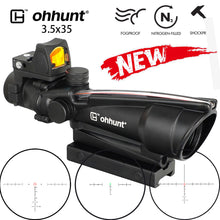 Load image into Gallery viewer, ohhunt ACOG Style 3.5X35 Real Optic Fiber Scope With Red Dot