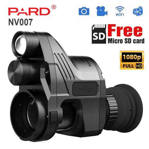 PARD NV007 HD Digital Night Vision With 45mm Adapter Scope Cameras Free Shipping By FedEx