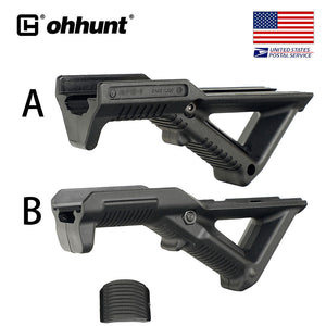 High Quality!!! Tactical Picatinny Rail Angled Fore Grip Handguard Hand Stop Barricade Rest Standard Interface Black